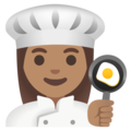 Woman Cook: Medium Skin Tone on Google Android 11.0 December 2020 Feature Drop