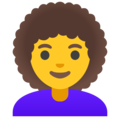 Woman: Curly Hair on Google Android 11.0 December 2020 Feature Drop
