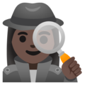 Woman Detective: Dark Skin Tone on Google Android 11.0 December 2020 Feature Drop