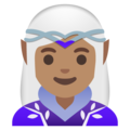 Woman Elf: Medium Skin Tone on Google Android 11.0 December 2020 Feature Drop