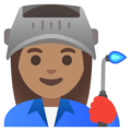 Woman Factory Worker: Medium Skin Tone on Google Android 11.0 December 2020 Feature Drop