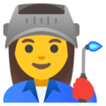 Woman Factory Worker on Google Android 11.0 December 2020 Feature Drop