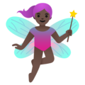 Woman Fairy: Dark Skin Tone on Google Android 11.0 December 2020 Feature Drop