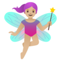 Woman Fairy: Medium-Light Skin Tone on Google Android 11.0 December 2020 Feature Drop