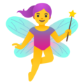 Woman Fairy on Google Android 11.0 December 2020 Feature Drop