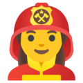 Woman Firefighter on Google Android 11.0 December 2020 Feature Drop