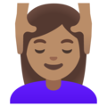 Woman Getting Massage: Medium Skin Tone on Google Android 11.0 December 2020 Feature Drop