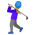Woman Golfing: Medium-Light Skin Tone on Google Android 11.0 December 2020 Feature Drop