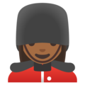Woman Guard: Medium-Dark Skin Tone on Google Android 11.0 December 2020 Feature Drop