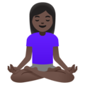Woman in Lotus Position: Dark Skin Tone on Google Android 11.0 December 2020 Feature Drop