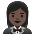 Woman in Tuxedo: Dark Skin Tone on Google Android 11.0 December 2020 Feature Drop