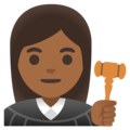 Woman Judge: Medium-Dark Skin Tone on Google Android 11.0 December 2020 Feature Drop