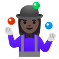 Woman Juggling: Dark Skin Tone on Google Android 11.0 December 2020 Feature Drop