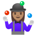 Woman Juggling: Medium Skin Tone on Google Android 11.0 December 2020 Feature Drop