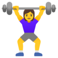 Woman Lifting Weights on Google Android 11.0 December 2020 Feature Drop