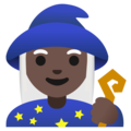 Woman Mage: Dark Skin Tone on Google Android 11.0 December 2020 Feature Drop