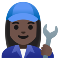 Woman Mechanic: Dark Skin Tone on Google Android 11.0 December 2020 Feature Drop