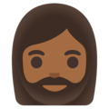 Woman: Medium-Dark Skin Tone, Beard on Google Android 11.0 December 2020 Feature Drop