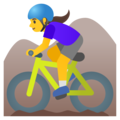 Woman Mountain Biking on Google Android 11.0 December 2020 Feature Drop