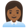 Woman Office Worker: Medium-Dark Skin Tone on Google Android 11.0 December 2020 Feature Drop