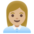 Woman Office Worker: Medium-Light Skin Tone on Google Android 11.0 December 2020 Feature Drop