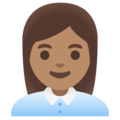 Woman Office Worker: Medium Skin Tone on Google Android 11.0 December 2020 Feature Drop