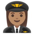 Woman Pilot: Medium Skin Tone on Google Android 11.0 December 2020 Feature Drop