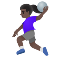Woman Playing Handball: Dark Skin Tone on Google Android 11.0 December 2020 Feature Drop