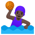 Woman Playing Water Polo: Dark Skin Tone on Google Android 11.0 December 2020 Feature Drop