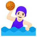 Woman Playing Water Polo: Light Skin Tone on Google Android 11.0 December 2020 Feature Drop