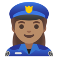 Woman Police Officer: Medium Skin Tone on Google Android 11.0 December 2020 Feature Drop