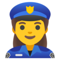 Woman Police Officer on Google Android 11.0 December 2020 Feature Drop