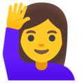 Woman Raising Hand on Google Android 11.0 December 2020 Feature Drop