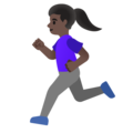 Woman Running: Dark Skin Tone on Google Android 11.0 December 2020 Feature Drop