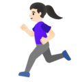 Woman Running: Light Skin Tone on Google Android 11.0 December 2020 Feature Drop