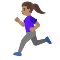 Woman Running: Medium Skin Tone on Google Android 11.0 December 2020 Feature Drop