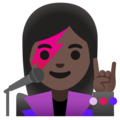 Woman Singer: Dark Skin Tone on Google Android 11.0 December 2020 Feature Drop