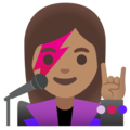 Woman Singer: Medium Skin Tone on Google Android 11.0 December 2020 Feature Drop