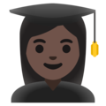 Woman Student: Dark Skin Tone on Google Android 11.0 December 2020 Feature Drop