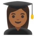 Woman Student: Medium-Dark Skin Tone on Google Android 11.0 December 2020 Feature Drop