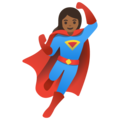 Woman Superhero: Medium-Dark Skin Tone on Google Android 11.0 December 2020 Feature Drop