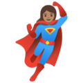 Woman Superhero: Medium Skin Tone on Google Android 11.0 December 2020 Feature Drop