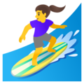 Woman Surfing on Google Android 11.0 December 2020 Feature Drop