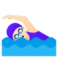Woman Swimming: Light Skin Tone on Google Android 11.0 December 2020 Feature Drop