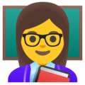 Woman Teacher on Google Android 11.0 December 2020 Feature Drop
