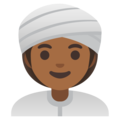 Woman Wearing Turban: Medium-Dark Skin Tone on Google Android 11.0 December 2020 Feature Drop