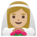 Woman with Veil: Medium-Light Skin Tone on Google Android 11.0 December 2020 Feature Drop