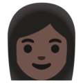 Woman: Dark Skin Tone on Google Android 11.0 December 2020 Feature Drop