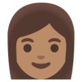 Woman: Medium Skin Tone on Google Android 11.0 December 2020 Feature Drop