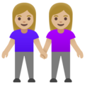 Women Holding Hands: Medium-Light Skin Tone on Google Android 11.0 December 2020 Feature Drop